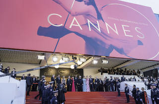 ANNES, FRANCE - MAY 17: Jury members Will Smith, Paolo Sorrentino, Agnes Jaoui, President of the jury Pedro Almodovar and jury members Fan Bingbing, Gabriel Yared, Park Chan-wook, Maren Ade and Jessica Chastain attend the 'Ismael's Ghosts (Les Fantomes d'