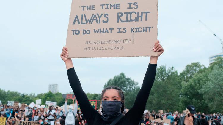 2020 Black Lives Matter protester