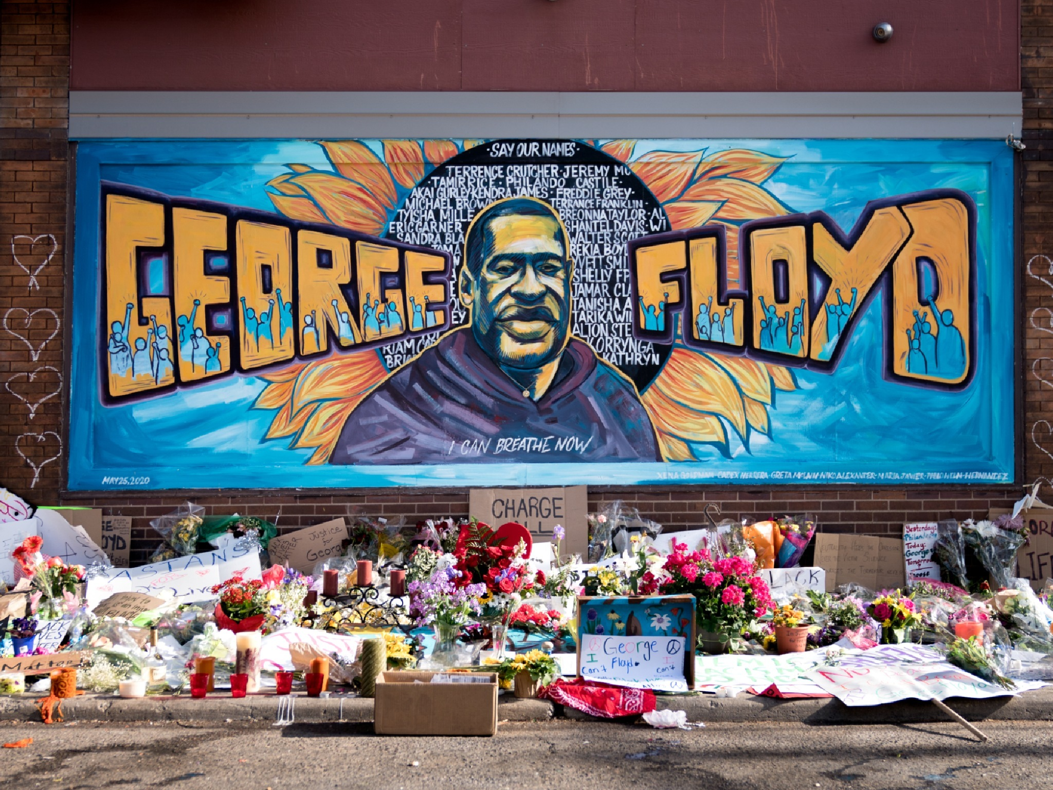 How street artists are honouring George Floyd