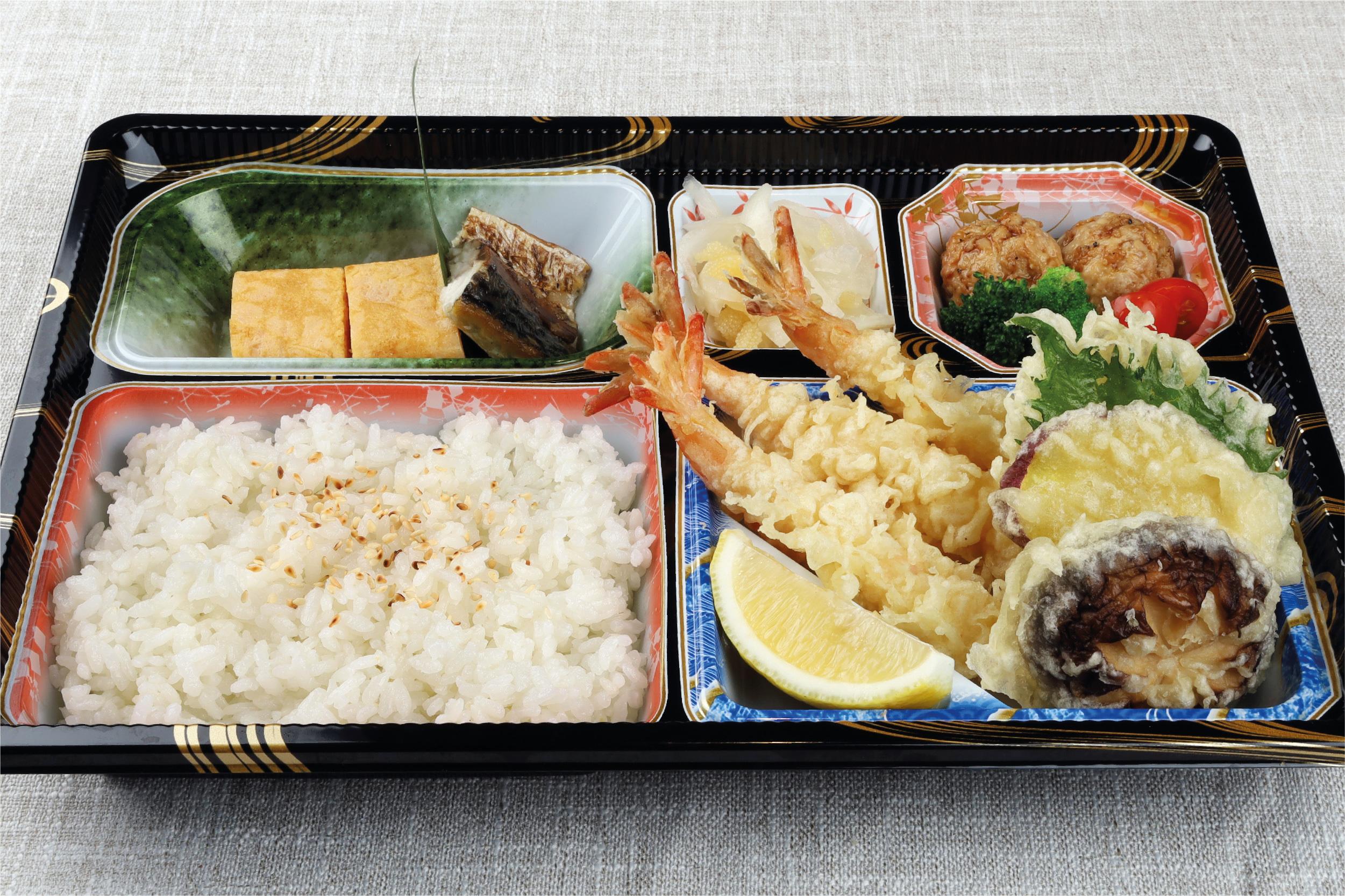 Sun With Moon assorted tempura bento