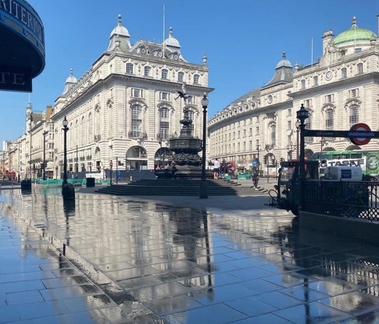 Londoners are sharing pictures of the city's empty streets in lockdown