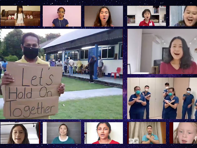 Migrant workers, healthcare heroes and Voices of Singapore Children's Choir come together to perform 'If We Hold On Together'