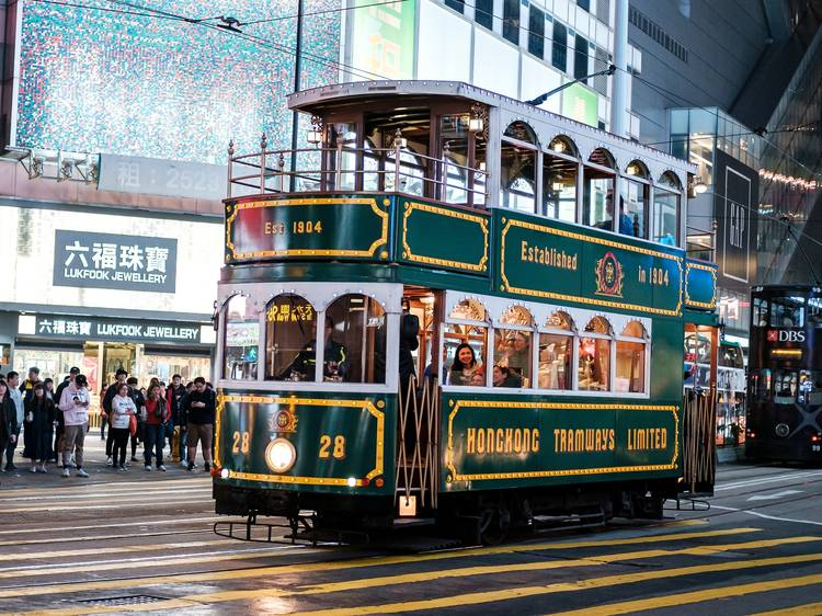 Experience riding the ding-dings via Hong Kong Trams