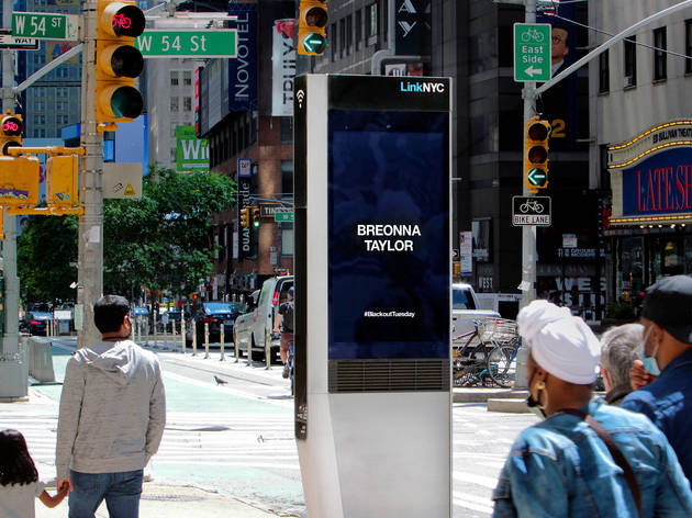 LinkNYC, New York, George Floyd, #BlackoutTuesday