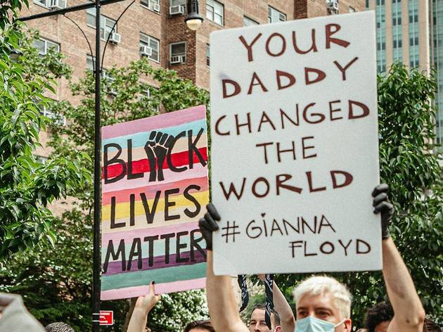 Black Lives Matter George Floyd NYC protest