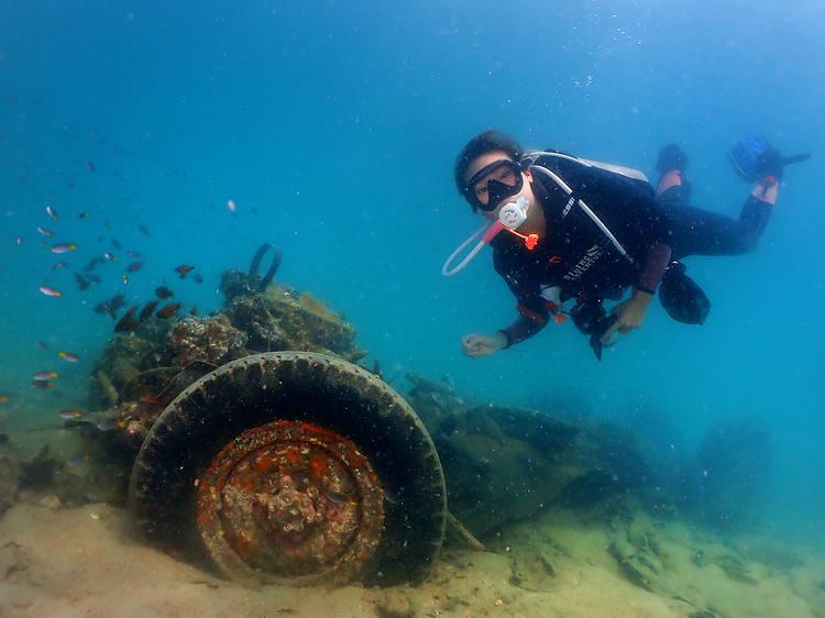 Go wreck diving