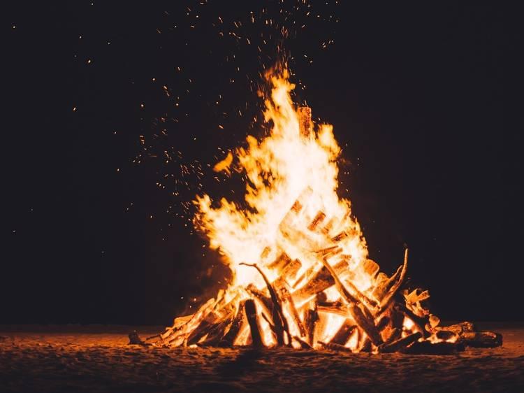 Get toasty around a campfire