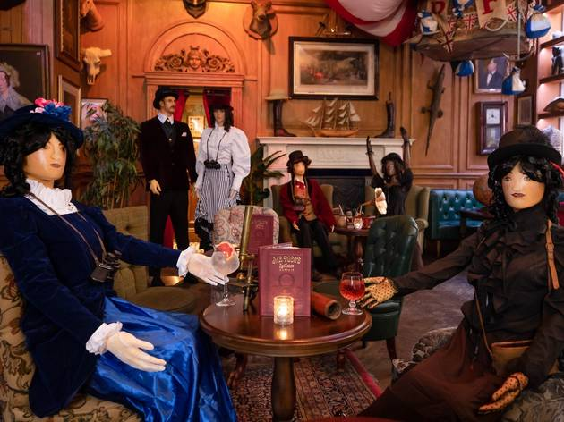 Mr Fogg's Residence using mannequins for social distancing