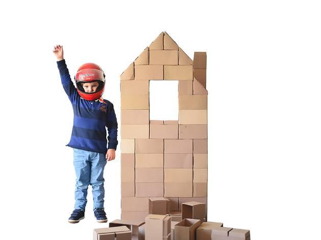 Brinquedos, DIY, Ludicenter, Blocos de cartão