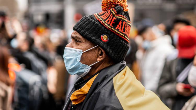 Black Lives Matter protestor in Sydney
