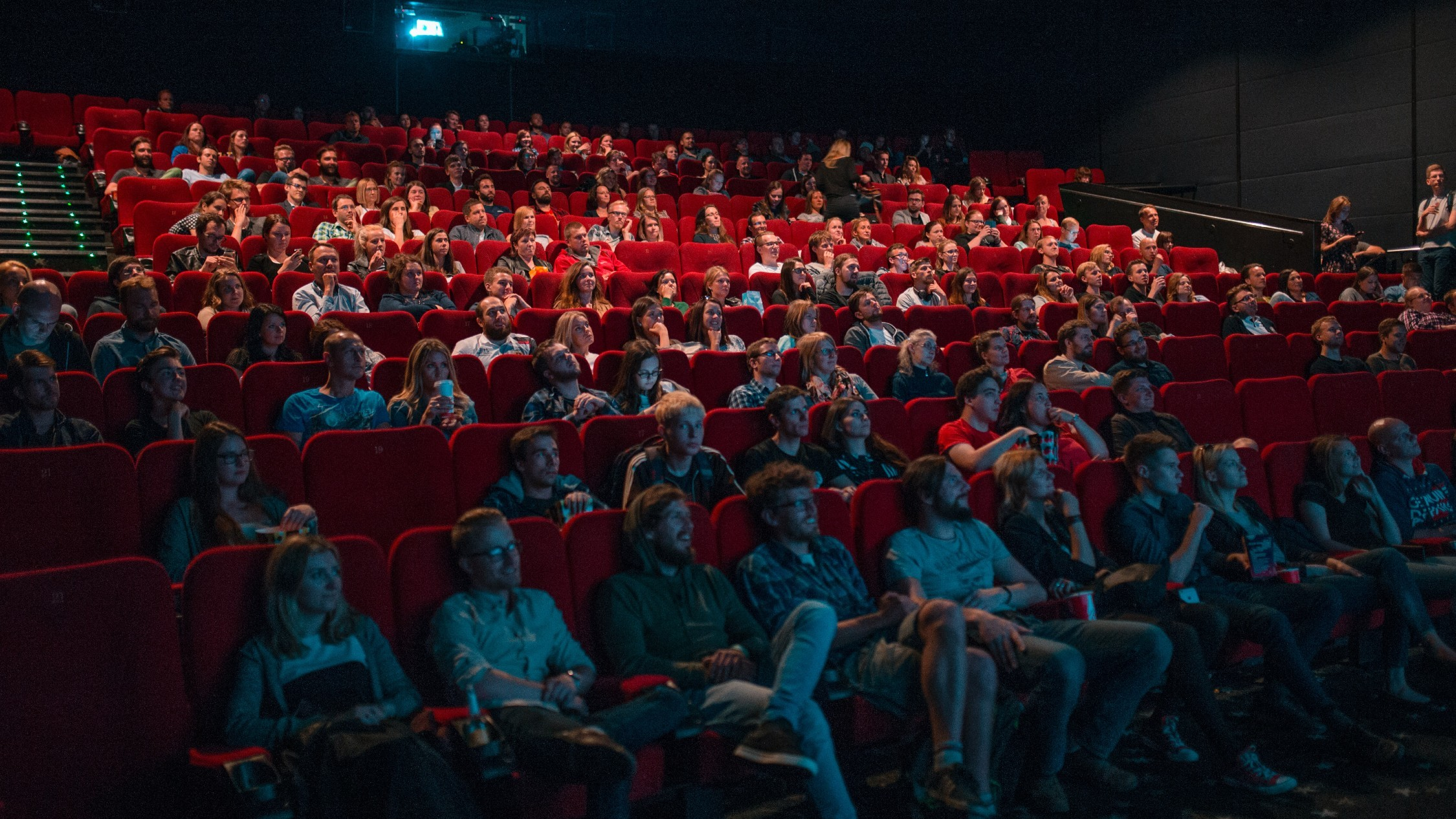 People in a movie theatre
