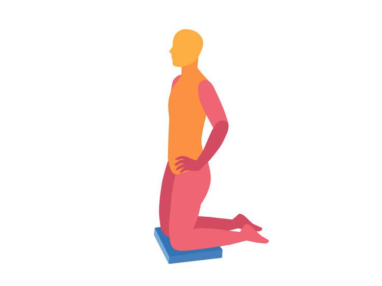 Active pelvic tilt(60 seconds)