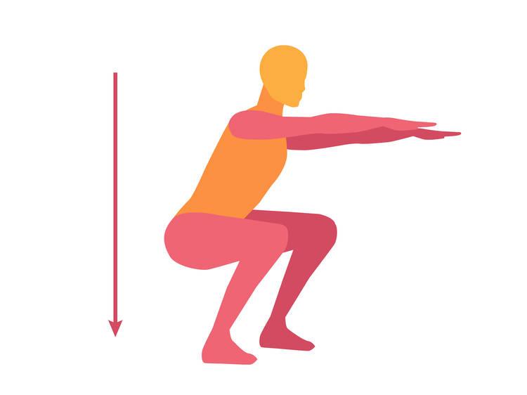 Bodyweight squat(90 seconds)