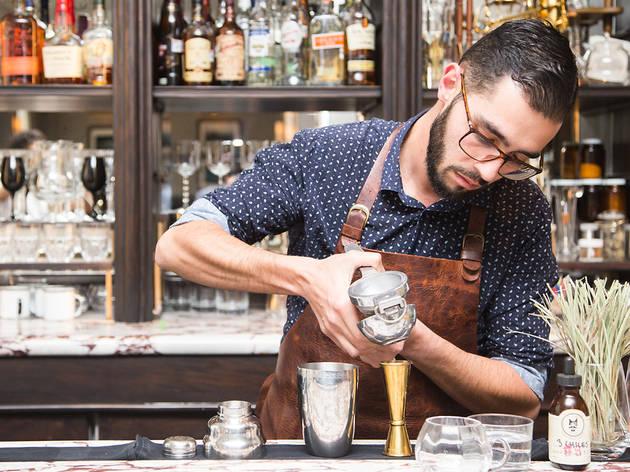 Mica Rousseau bartender