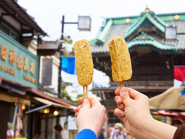 Best street food and snacks at Shibamata