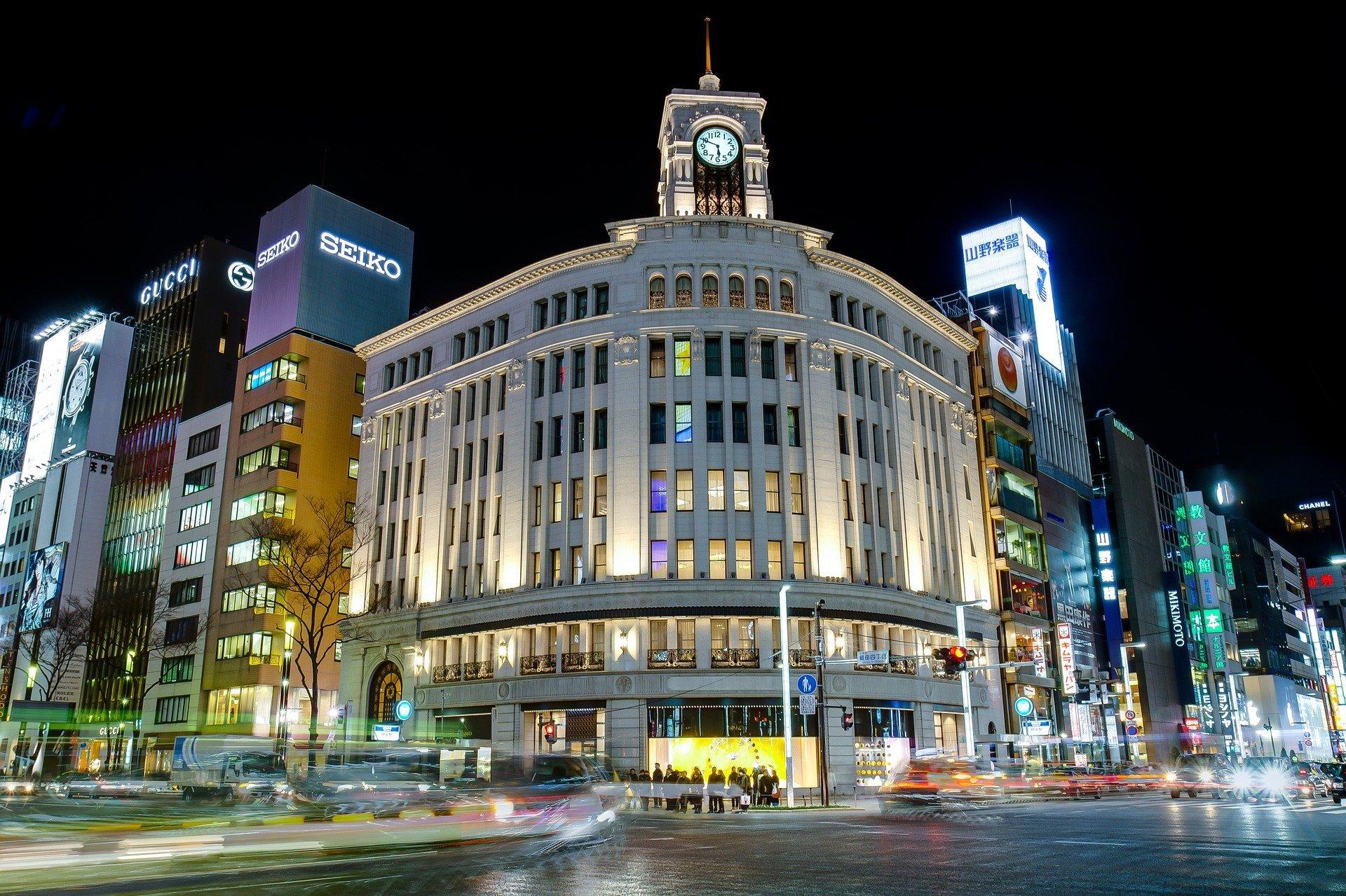 Ginza, shopping, night scene