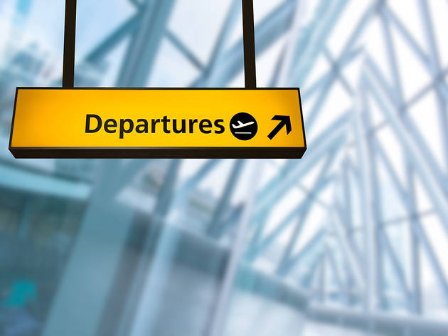 Departures at airport