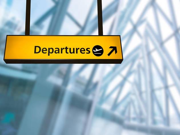Departures at airport