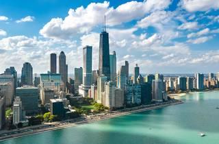 chicago, skyline, lake shore drive, lake, lake michigan, waterfront, city, shutterstock
