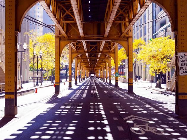 chicago, bridge, downtown, chicago avenue, city, shutterstock