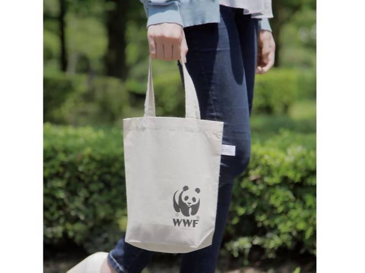 WWF 薄手・リサイクルコットンパンダバッグ