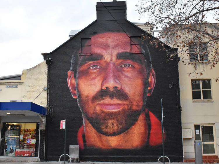 Apparition Media's mural of AFL legend Adam Goodes
