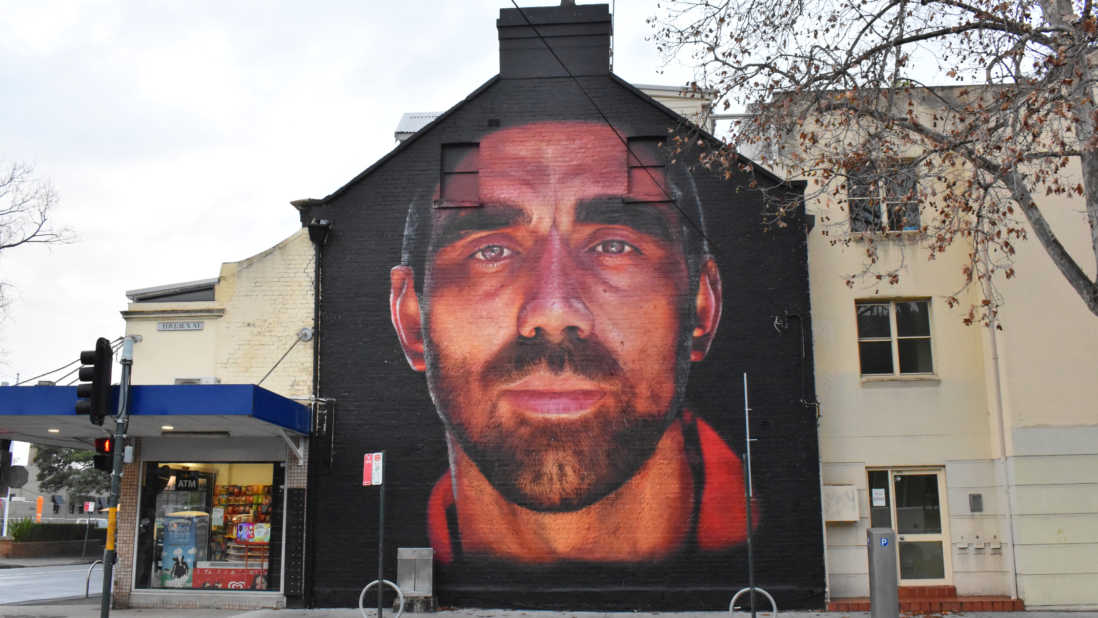 Adam Goodes mural in Surry Hills