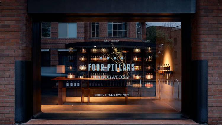 Four Pillars gin lab frontage