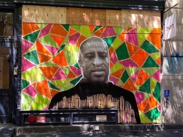 George Floyd, street art, murals, New York, Black Lives Matter