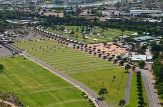 An aerial photograph of Flemington Racecourse