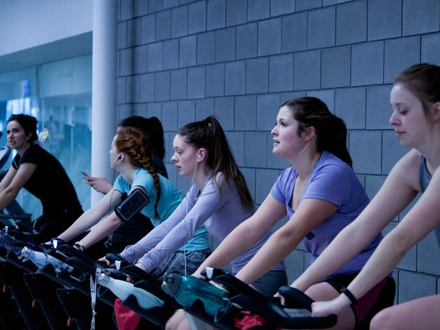 Generic spin class gym