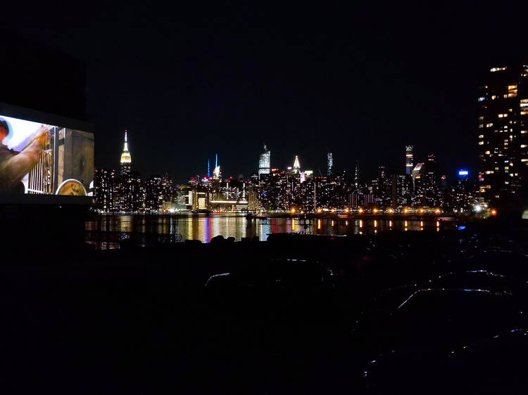 Skyline Drive-In on a Brooklyn waterfront