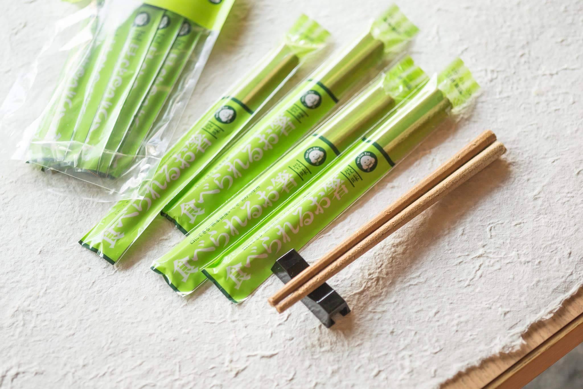 Edible chopsticks