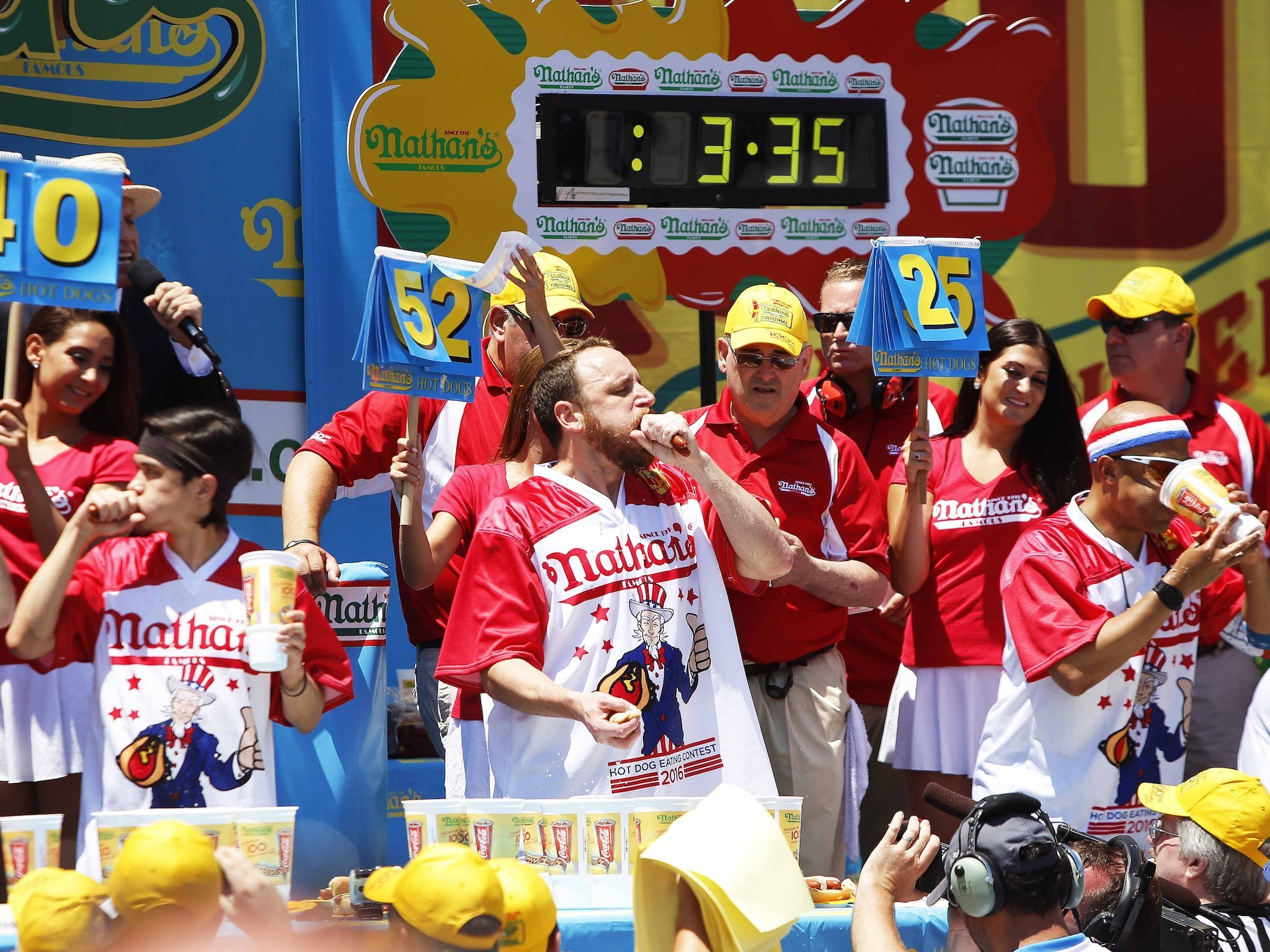 Watch Nathan's hot dog eating contest