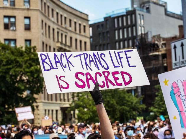 black trans lives, black lives matter, BLM, protest, new york city, brooklyn