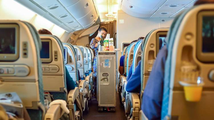 Drink service, airplane
