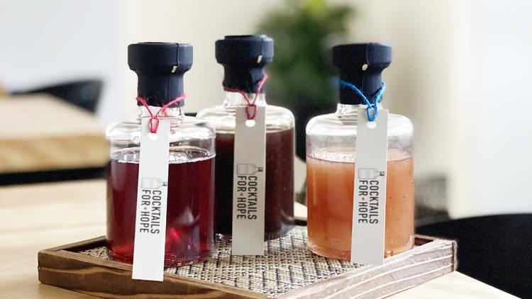 cocktails for hope, julia momose, kumiko, cocktails, to go, bottled, to-go cocktails