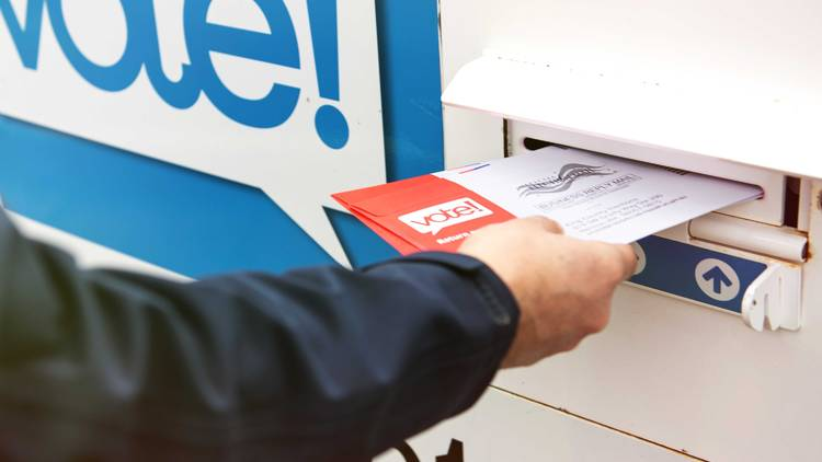 casting a voting ballot, mail-in ballot, election