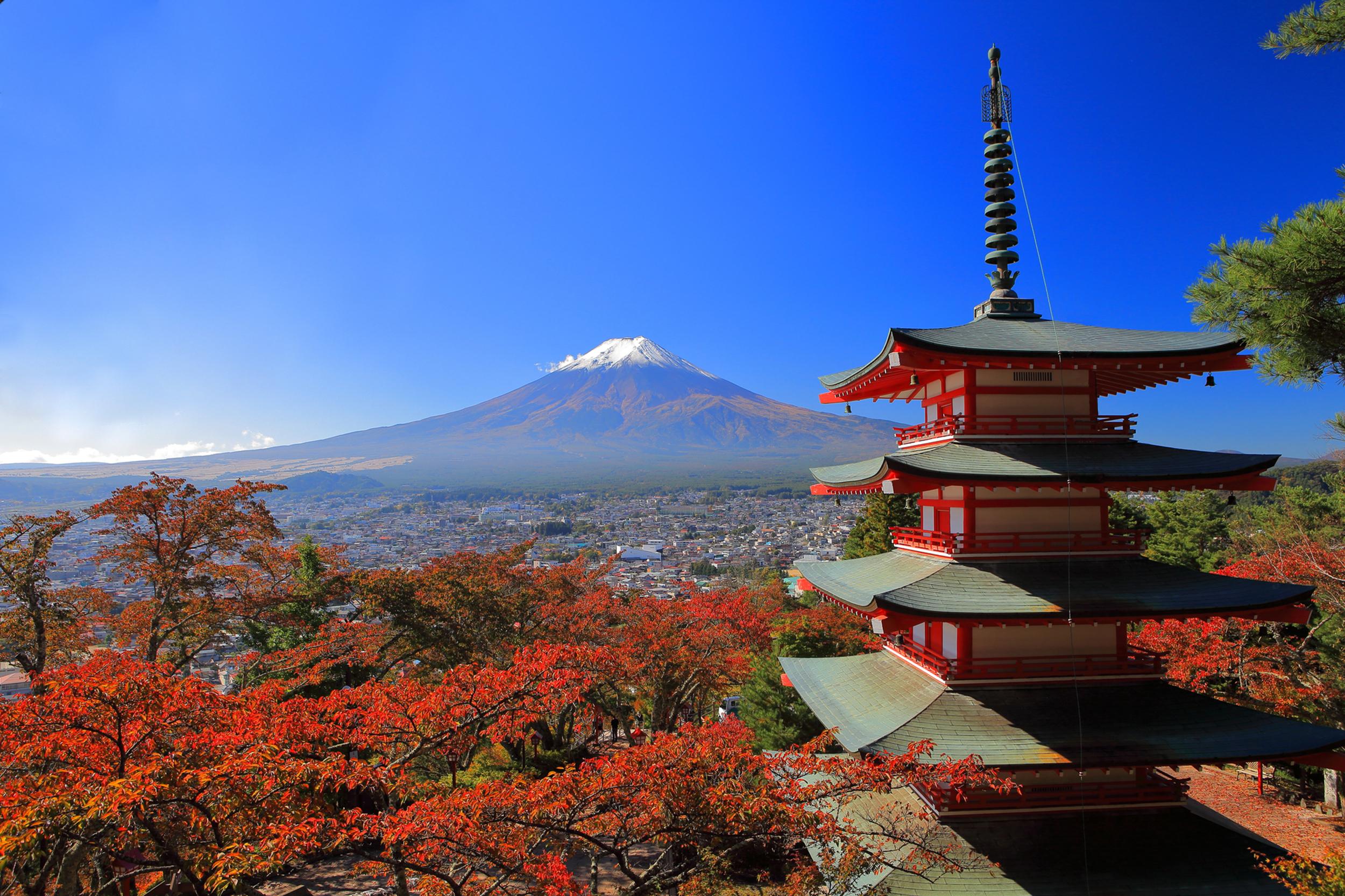 Mt Fuji, Chureito Pagoda