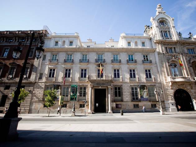 Vista exterior de la Real Academia de Bellas Artes de San Fernando