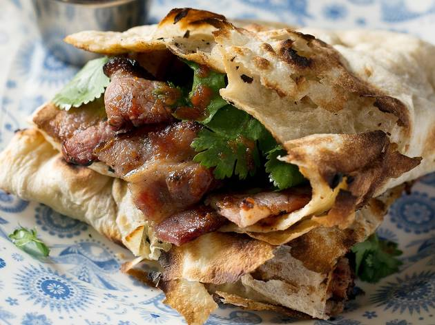 Dishoom bacon naan roll