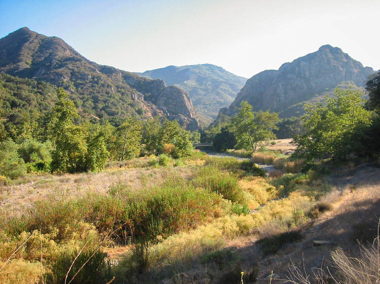 Hike through a dramatic landscape at Malibu Creek State Park