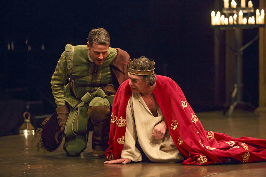 Graham Abbey (left) as Philip, the Bastard and Tom McCamus as King John in King John at the Stratford Festival