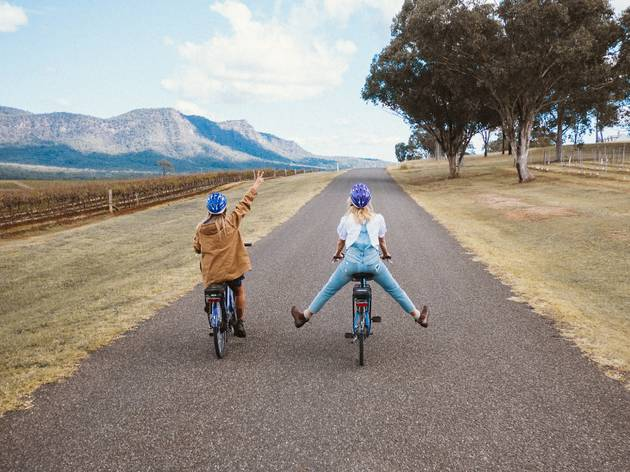 Hermitage cycle path, Hunter Valley