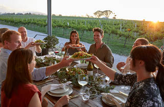 People dining at a winery in Orange