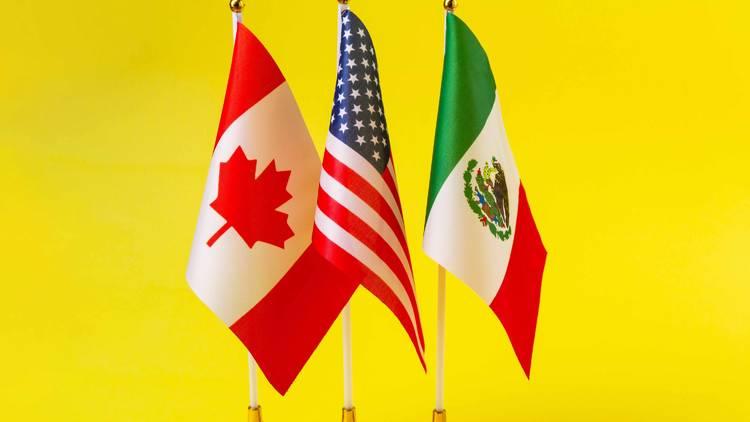 North American bloc flags