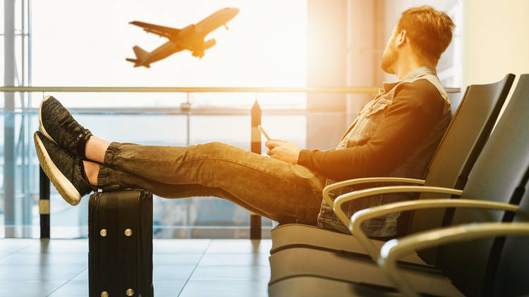 Generic image of a traveller at an airport