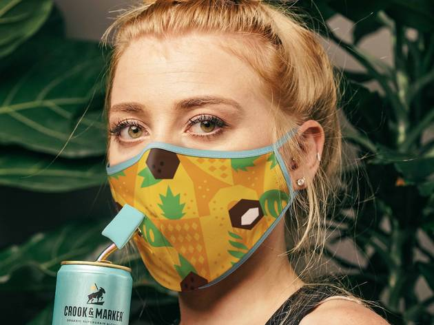Mask for drinking by Crook & Marker