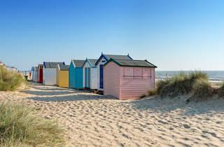 Beach huts, England beach