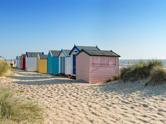Beach huts, England beach